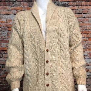 VTG Woolrich Chunky Cable Knit Shawl Cardigan